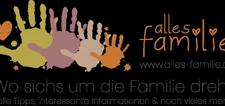 Alles Familie Logo | Mit Text, Webadresse und Erläuterung