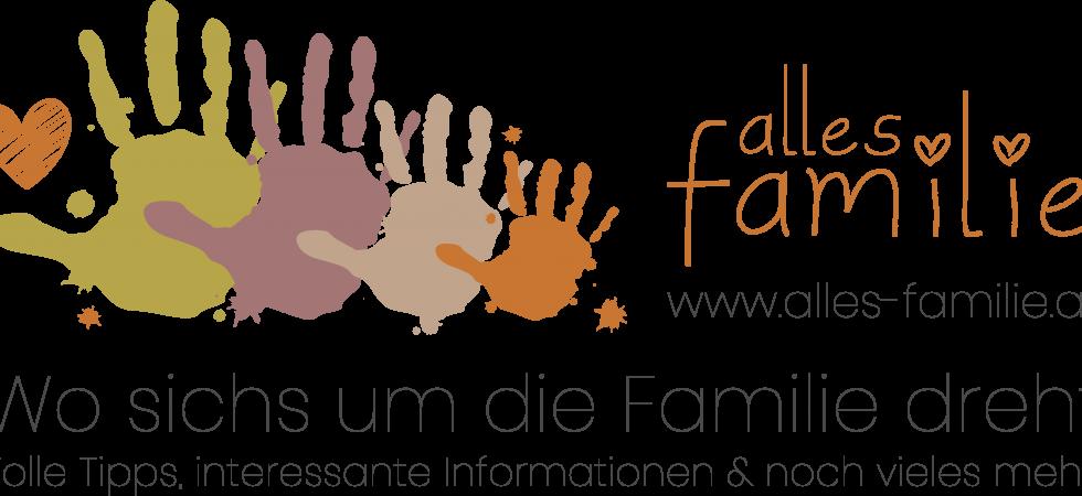 Alles Familie Logo   Mit Text, Webadresse und Erläuterung