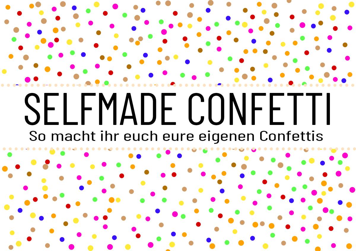 Confetti selber machen | Druckvorlage