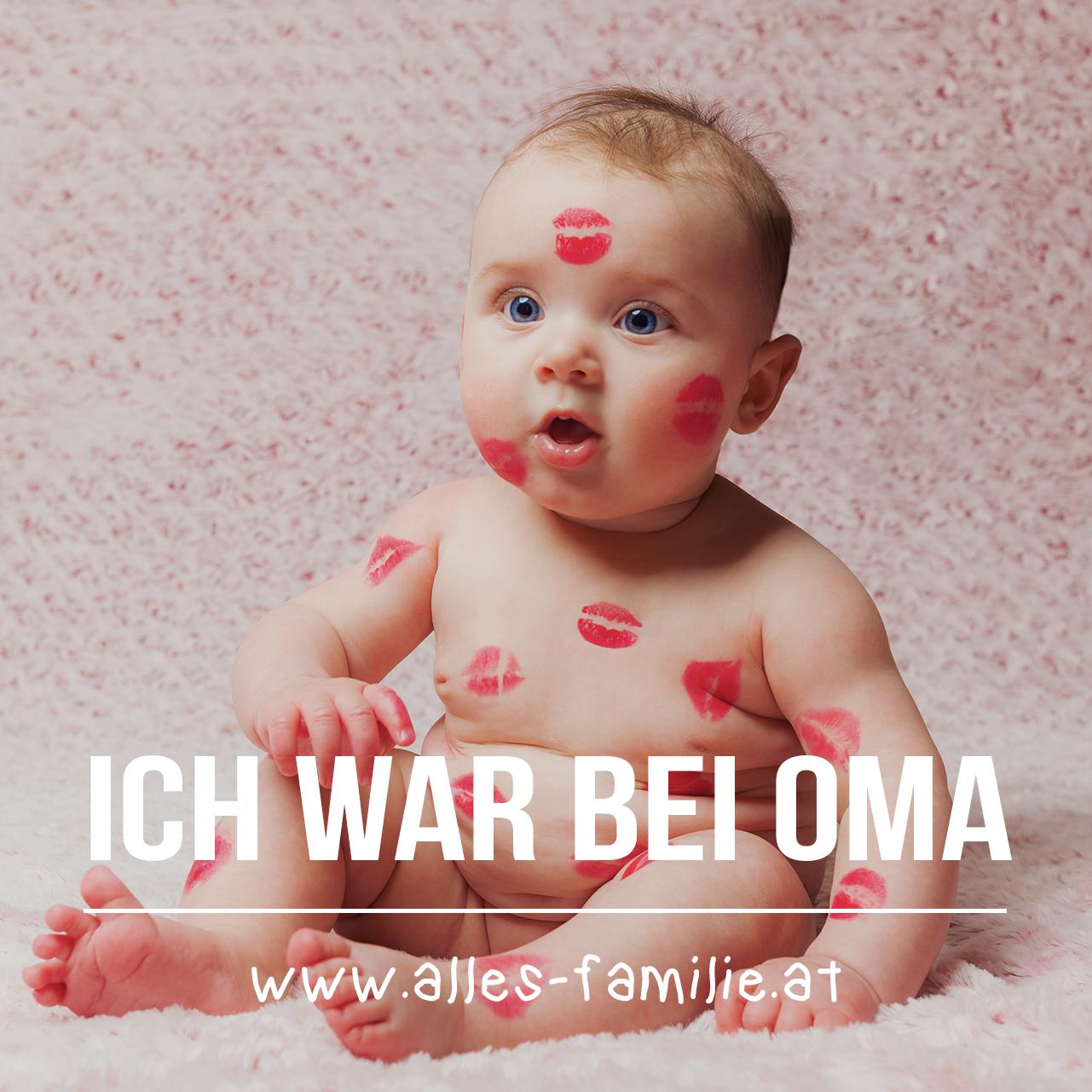 Ich war bei Oma | Babyspruch